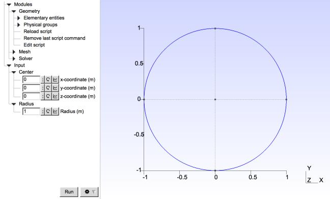 gmsh-parametrized-circle